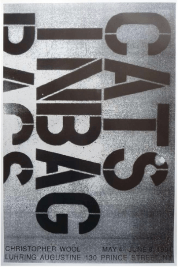 Christopher Wool - Cats In Bags