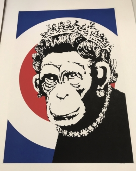 Banksy - Monkey Queen 2