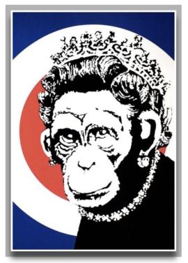 Banksy - Monkey Queen 1