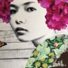 Gareth Tristan Evans - Lace Cap Flutter Too Rose Gold Leaf