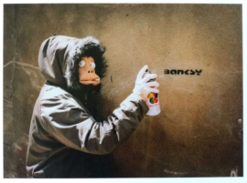 Banksy - Monkey Postcard 4