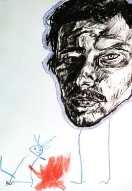 Man with dead rat - Reece Swanepoel