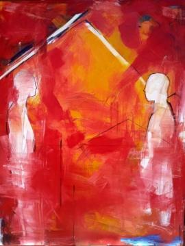 Alejandro Naranjo - 4. Serie Vida Bitácoras No 2, 120 x 100 cms, óleo sobre tela, 2020-min