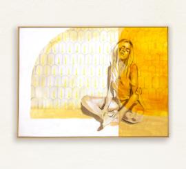 Hannah Adamaszek - Honey Sunlight framed mock uip